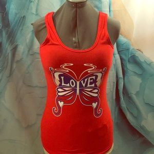 Tops - Love! Red Tank